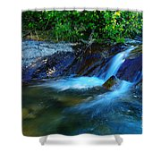 Small Blue Water Shower Curtain
