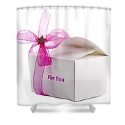 Small Box Of Chocolates Shower Curtain