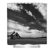 Small Country Church In Grass Field In Shower Curtain