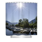 Small Harbor Shower Curtain