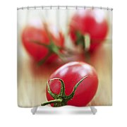 Small Tomatoes Shower Curtain by Elena Elisseeva