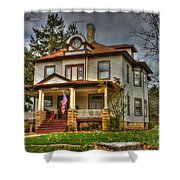 Small Town Patriotism Shower Curtain