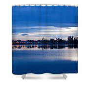 Small Town Reflections Shower Curtain