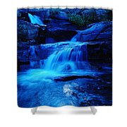 Small Waterfall Going Into Spirit Lake  Shower Curtain