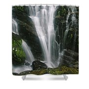 Small Waterfall Near The Milford Track Shower Curtain