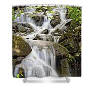 Small Waterfalls And Brook West Bolton Shower Curtain
