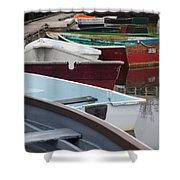 Small Wooden Boats Shower Curtain