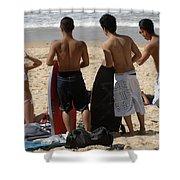 Smile Boys Bondi Beach Australia Shower Curtain