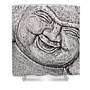 Smiling Buddha Shower Curtain