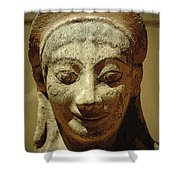 Smiling Goddess Shower Curtain