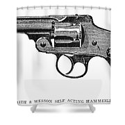 Smith & Wesson Revolver Shower Curtain