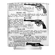 Smith & Wesson Revolvers Shower Curtain