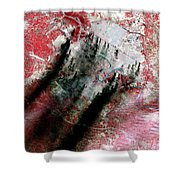 Smoke Plumes Over Baghdad, Iraq Shower Curtain