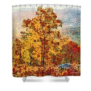 Smoke Tree In The Karst Shower Curtain