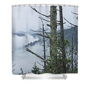 Smokey Mountain Forest No.612 Shower Curtain