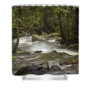 Smokey Mountain Stream No.326 Shower Curtain