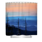 Smokey Mountain Sunset As Seen From Clingman's Dome Shower Curtain