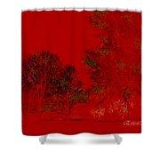 Smokey Woods Shower Curtain