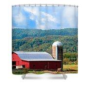 Smokie Mountain Barn Shower Curtain