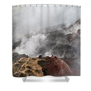 Smoking Fields Shower Curtain