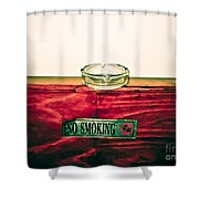 Smoking Mixed Messages Shower Curtain