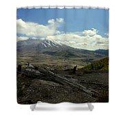 Smoking Mountain Shower Curtain