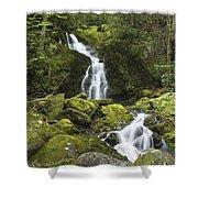 Smoky Mountain Waterfall - Mouse Creek Falls Shower Curtain