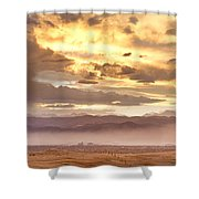 Smoky Sunset Over Boulder Colorado  Shower Curtain