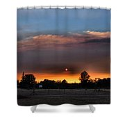 Smoky Sunset Wide Angle 08 27 12 Shower Curtain