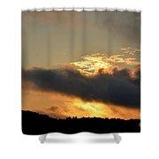 Smoldering Sunrise Shower Curtain