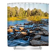 Smooth Rapids Shower Curtain