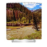 Snake River And Kayaker Shower Curtain