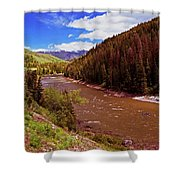 Snake River And Rafters Shower Curtain