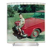 Snapshot From 1950s Shower Curtain