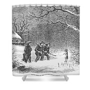 Snaring Rabbits, 1867 Shower Curtain