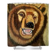 Snarling Grizzly Shower Curtain