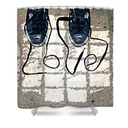 Sneaker Love 1 Shower Curtain