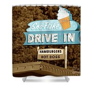 Sno-flake Drive In Lake Tahoe Shower Curtain