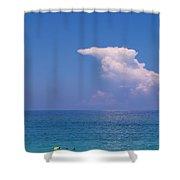 Snorkeler In Paradise Shower Curtain