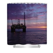 Snorre Sunset Shower Curtain