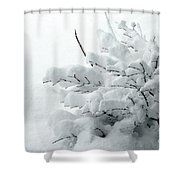 Snow Abstract 2 Shower Curtain