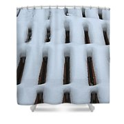 Snow Abstract 4 Shower Curtain