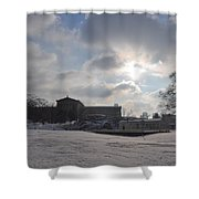 Snow At The Art Museum - Philadelphia Shower Curtain