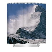 Snow Blows Off Of The Matterhorn Shower Curtain