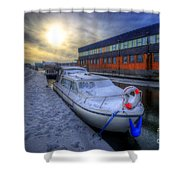 Snow Boat 1.0 Shower Curtain