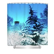 Snow Bow Shower Curtain