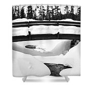 Snow Bridge In Canadian Rockies Shower Curtain