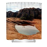 Snow Canyon 3 Shower Curtain