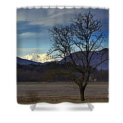 Snow-capped Monte Rosa Shower Curtain