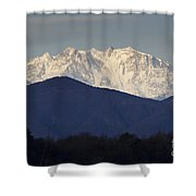 Snow-capped Mountain Monte Rosa Shower Curtain